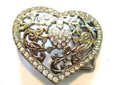 Belt Buckle Rhinestone Heart Shape