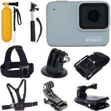 GoPro HERO7 White Waterproof Digital Action Camera + Monopod +Chest Head Strap