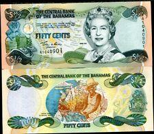 BAHAMAS 1/2 DOLLARS 2001 P 68 QEII AU-UNC