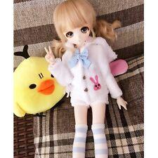 [wamami]4pcs White Cute Bunny Coat/Shorts/Socks/Bow-kno t For 1/6 Sd Dod Dollfie