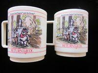 Leia & Ewoks C-3PO R2D2 1983 STAR WARS Return of the Jedi plastic Mug Cup RARE
