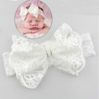 Toddler Hair Accessories Girls Baby Headband Bow Pearl Lace Hair Band Headwear