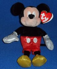 TY DISNEY SPARKLE MICKEY MOUSE BEANIE BABY - MINT with MINT TAG