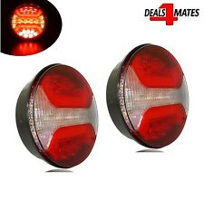2x Led Neon Round Tail Hamburger Rear Combination Lights Indicator Stop Lamps E9