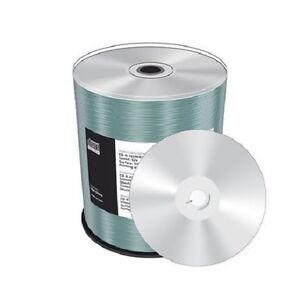 100 Mediarange Full Printable Silver CD-R 52x 700MB 80 Min Blank CD Disc MR244