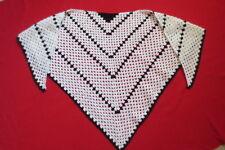 Dreieckstuch Schultertuch Schal Umhang Boho Seelenwärmer handmade weiß schwarz
