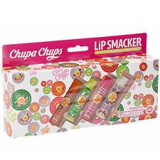 Chupa Chups Flavoured Lip Balms Vanilla Apple Raspberry Orange 4PK