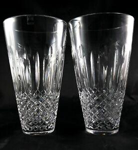 Stunning Pair Lead Crystal Vases - Large sized Scottish Gleneagles