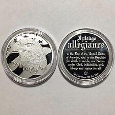 Pledge of Allegiance Silver Eagle 1oz 999 Fine Silver Round SilverTowne Capsule