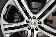 4 X Mercedes Benz 75mm Centre Wheel Caps Alloy BRABUS AMG/SL/C/E/S/A