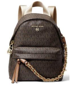 ❤️ Michael Kors Slater Extra Small Convertible Messenger Brown/Acorn Backpack