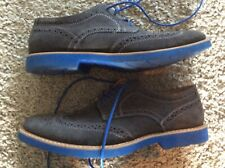 "MENS ""STAFFORD"" SHARP GRAY W/BLUE ACCENT SUEDE DRESS SHOE SIZE 10.5"