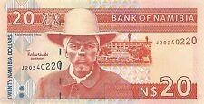 Namibia 20 Dollars 2002 Unc Pn 6a