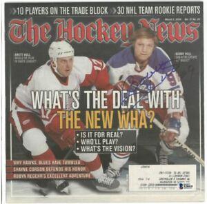 Bobby Hull signed 2004 Hockey News Winnipeg Jets Magazine BAS COA
