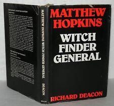 Witch Finder General, Matthew Hopkins, Richard Deacon, HB/DJ, 1976 1st Edition