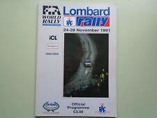 1991 Lombard RAC Rally Programme.