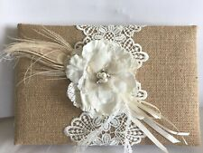 Burlap and Lace Wedding Guestbook