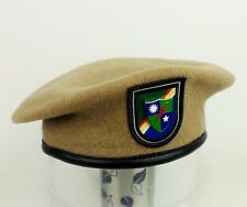 US ARMY RANGERS BERET HAT MILITARY BERET FLASH US ARMY DUI WOOL SIZE L