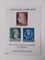 German Democratic Republic Stamps 1955 souvenir sheet unmounted mint