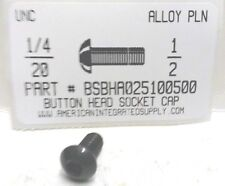 1/4-20x1/2 Button Head Hex Socket Cap Screws Alloy Steel Black (33)