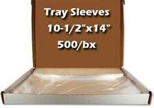 """Dental Tray Sleeve Clear, Plastic 500/Bx 10.5"""" x 14"""" Cargus Mark3 - 2105"""