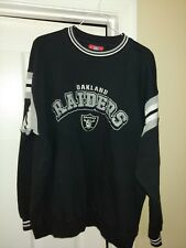 Oakland Raiders NFL Crewneck Sweatshirt Size L, official NFL gear, embroidered