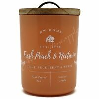 DW Home Large 15.1oz Candle 56 Hour Large Double Wick - Fresh Peach & Nectarine