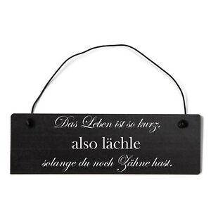 Buntes Shabby Chic Vintage Schild Das leben ist so kurz, also lächle solange du