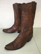 Lucchese Vintage Brown Leather Cowboy Boots Womens 8.5 B