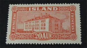nystamps Iceland Stamp # 146 Mint OG H $50   L23y414