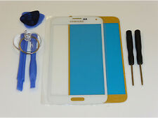 Samsung GALAXY s5 i9600 g900f Vetro Frontale Touchscreen Display Touch Bianco