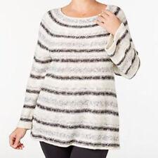 Sweater 1X Plus Style&Co NWT $60  Metallic Stripe Tan Gray Crafted Corner MC105