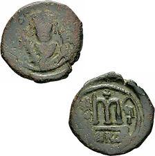 Byzanz Tiberius II Constantin Follis Nicomedia 581/582 Adler Zepter Sear 441 / 2