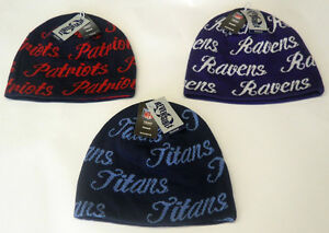 NWT NFL Women's Reebok Reversible Knit Hat Beanie Cap Choose Team OSFA NEW