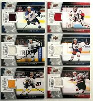 6 Card Jersey Lot 2013-14 Upper Deck Game Jerseys Kings Blues Devils Ottawa