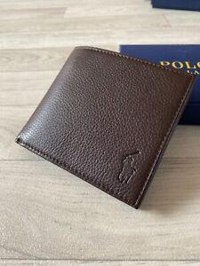 RALPH LAUREN POLO BROWN LEATHER WALLET Bifold Polo Ralph Lauren Wallet Purse NEW