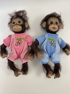 Ashton Drake Twin Baby Monkey Doll Set He Did It, She Did it' by Cindy Sales HTF