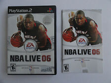 NO GAME- PS2 EA SPORTS NBA LIVE 06 - CASE & MANUAL ONLY - NO GAME