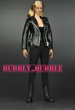 "1/6 T800 Female Leather Jacket Set For 12"" Hot Toys Phicen Body SHIP FROM USA"