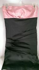 SPRING FORMAL DANCE  BIRTHDAY PARTY HOMECOMING PINK BLACK SMALL DRESS APPAREAL