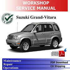 SUZUKI GRAND VITARA SQ/JA 1998-'05 1.6/2.0/2.5L WORKSHOP SERVICE PDF MANUAL