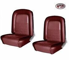 1967 Mustang Coupe Front Bucket & Rear Seat Upholstery - Red by TMI