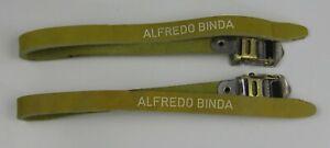 Alfredo Binda Bianchi Dino Toe straps  Rare Color NOS!