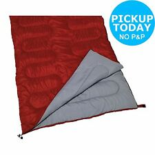 ProAction 300GSM Double Envelope Sleeping Bag - Red. From the Argos Shop on ebay