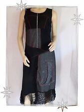 Robe Fantaisie Chasuble Asymétrique Noire S.Quise Taille 2 - 40