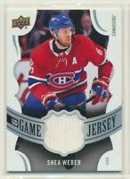 2018-19 Upper Deck Series 1 UD Game Jersey Shea Weber Montreal Canadiens