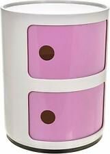 Set of 9 Dusty Pink and White Spots and Stripes Ceramic Cupboard Knobs MG-729A