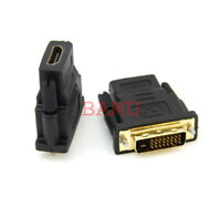 Adapter Converter Gold Plate DVI-D Digital Dual Link male 24+1 to HDMI female