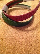 Deidra & Kiki Headbands One Red Sparkle And One Green Sparkle New Condition