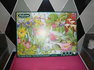1000 piece jigsaw puzzle falcon flower show the water garden